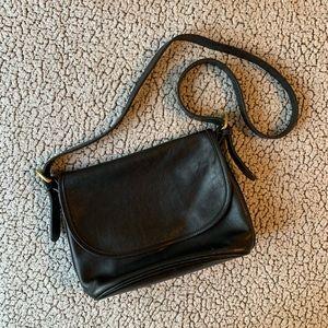 Vintage Coach Bag Black Real Leather